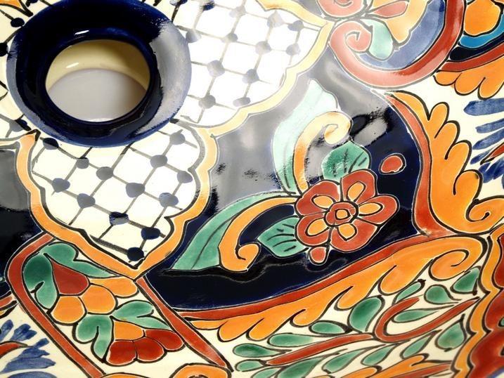 Bunte Waschbecken Aus Mexiko