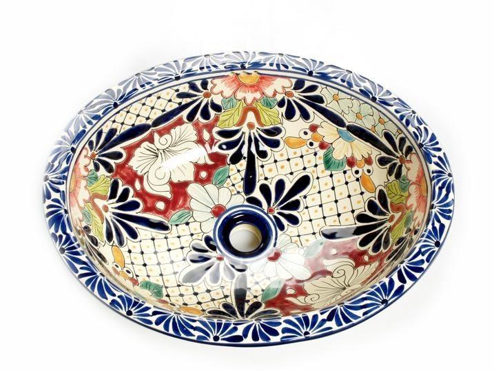 mexikanische waschbecken aus keramik. Black Bedroom Furniture Sets. Home Design Ideas