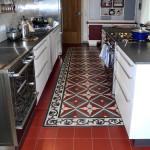 Zement Fliesen in der Küche